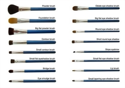 Pearlescent Blue Brushes