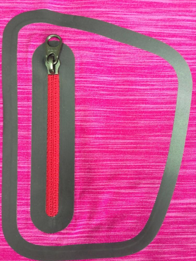 laser bonding -zipper pocket