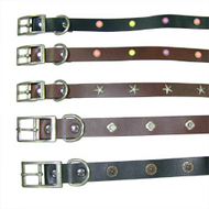 Fashion Leather Collar: Pet Collar Leash