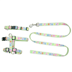 Ribbon Collar Leash Harness: Pet Collar Leash