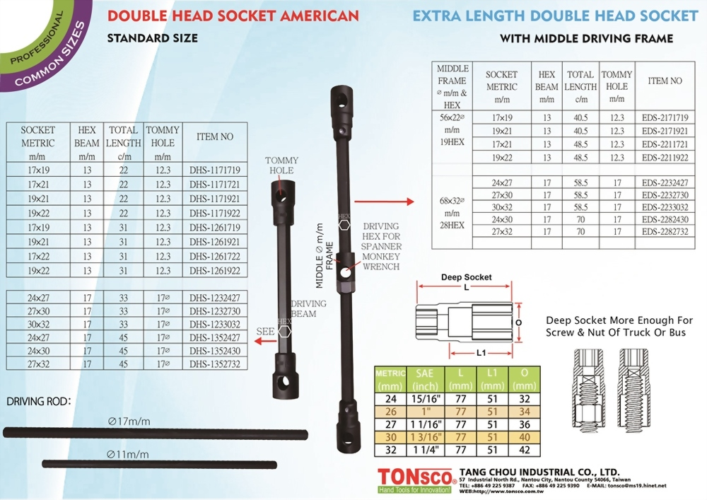 Double Head Socket (Metric)