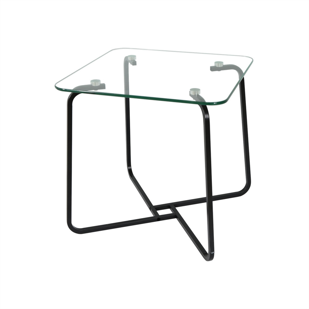 Geometric Square Side Table