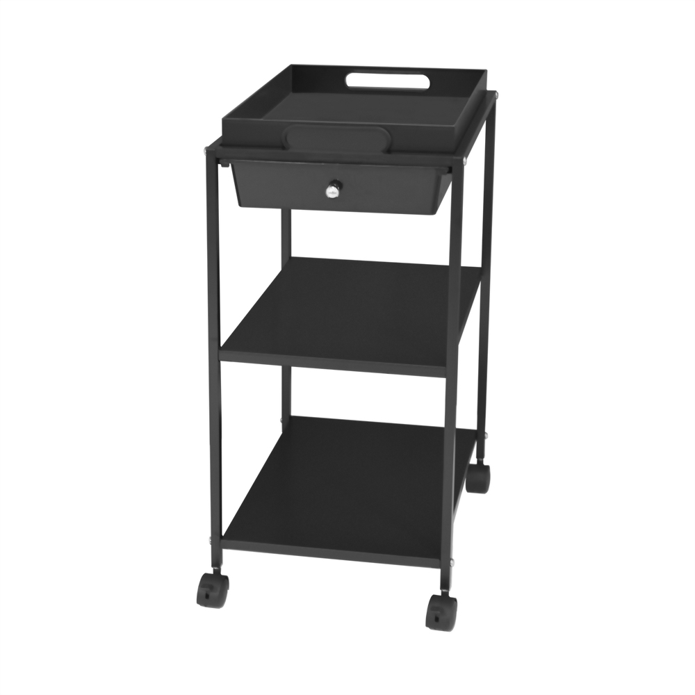 3 shelf rolling cart with drawer