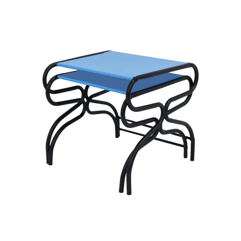 End Table-Black & Blue