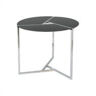 Geometric Round Side Table