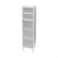 4 shelf foggy glass cabinet