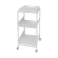 2 shelf rolling cart with tray