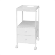 1 shelf rolling cart with drawer & tray