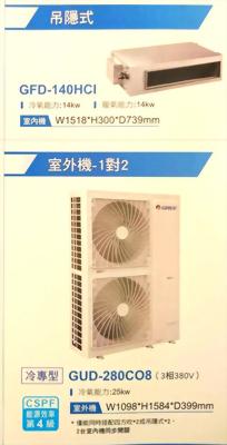 U-MATCH 1對1 商用冷暖/冷專空調 (吊隱式)