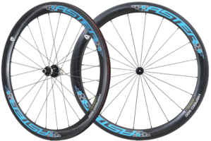 50mm Clincher 碳纖維輪組 藍