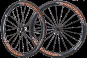 50mm Clincher 碳纖維輪組 橘