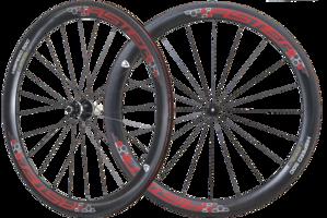 50mm Clincher 碳纖維輪組 紅