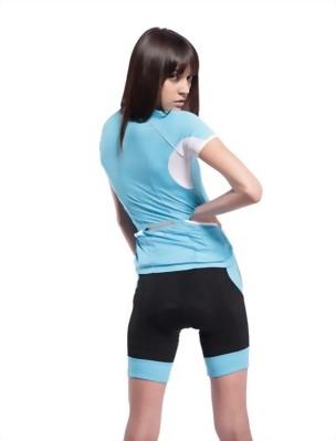 短袖女款車衣(藍/白)