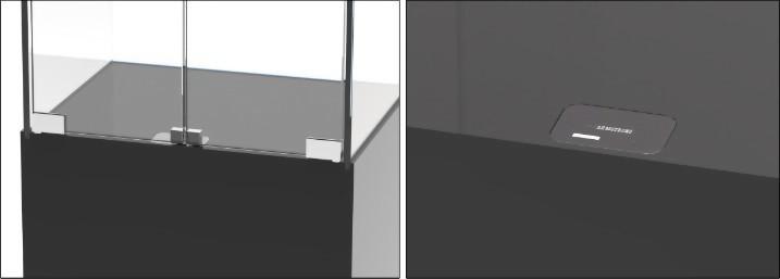 Fechadura Eletrônica Invisível para Gabinete de Vidro SDGS-001