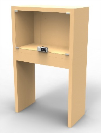 زجاج خزانة الذكية الرقمية قفل لباب مزدوج SDGC-417