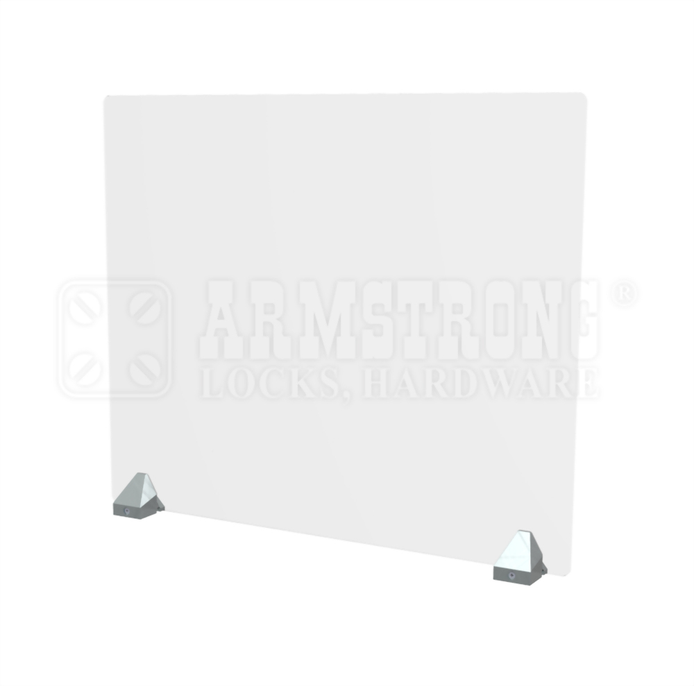 Table-top single protective barrier stand