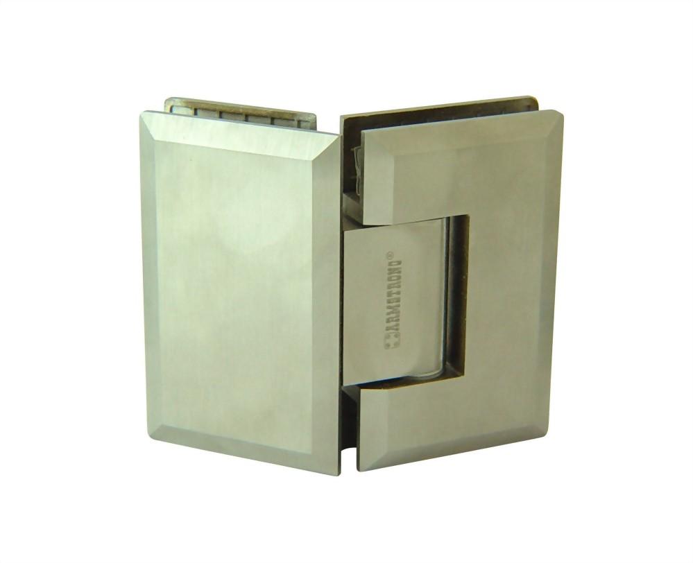 180 degree rectangular edge stainless glass door hinge for 180 degree door