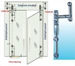 Dobradiças para porta de vidro para vidro da porta direita para vidro 1500sus 05 série de parafusos afundados