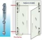 Dobradiças da porta de vidro de vidro para vidro 1500sus 03 série de parafusos afundados