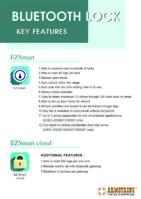 Bluetooth Lock- Key Features