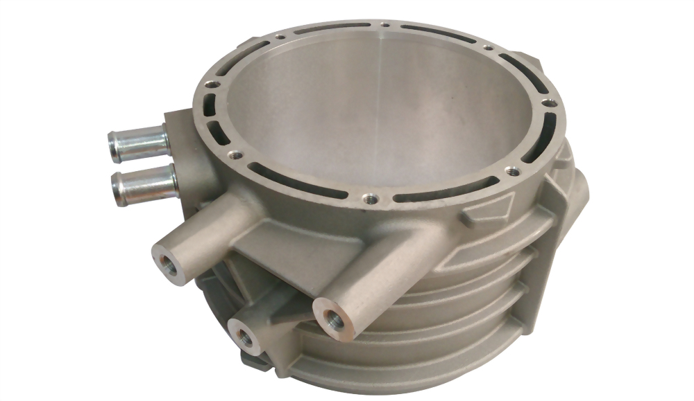 Water cooled motor housing of electric vehicle for Liquid cooled ac motor