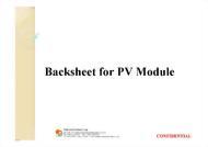 02-07-03 BACKSHEET FOR PV MODULE