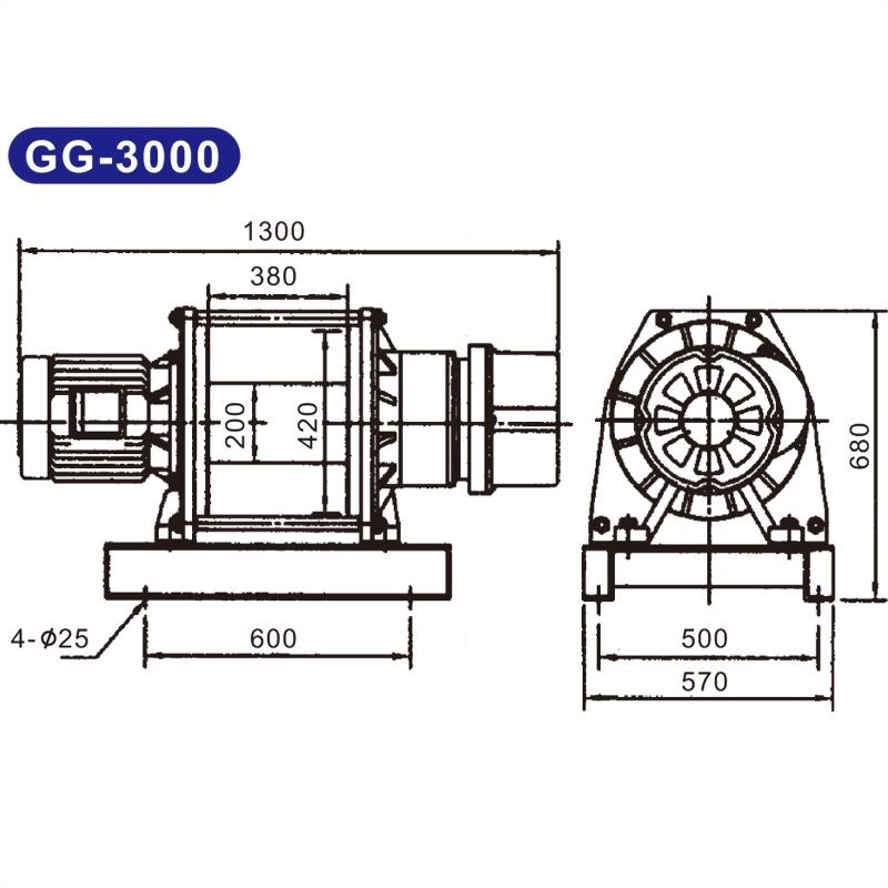 電動吊貨捲揚機GG-1000/1100/2000/3500/5000/10000