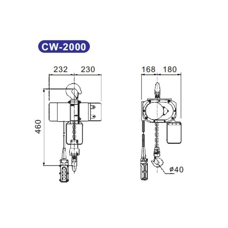 (標準型)電動鍊條吊車 CW系列