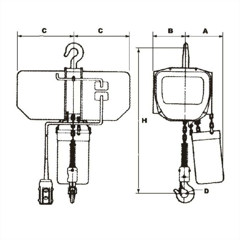 (強力型)電動鍊條吊車 CX系列