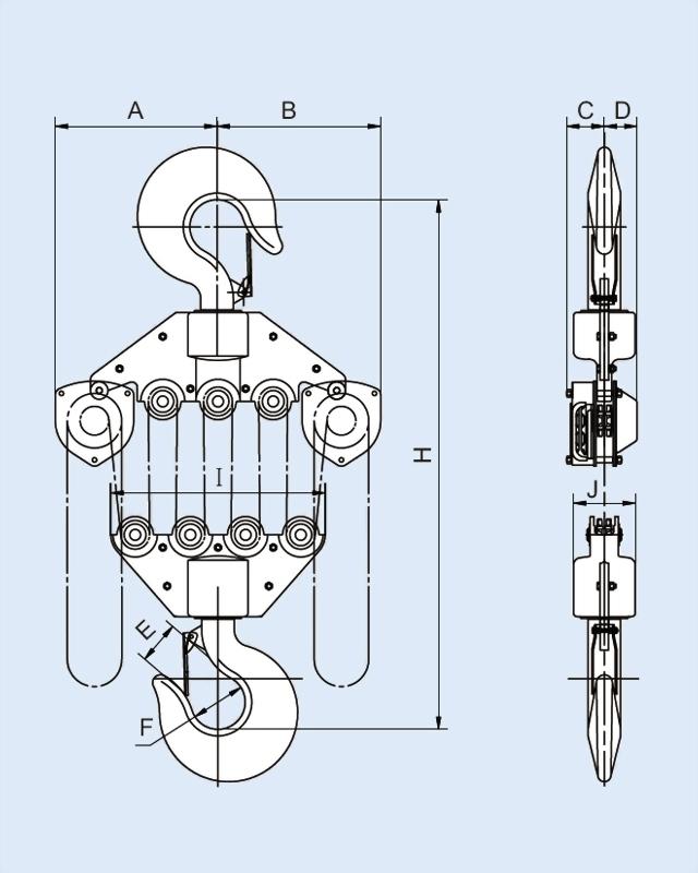 手拉鍊條吊車系列