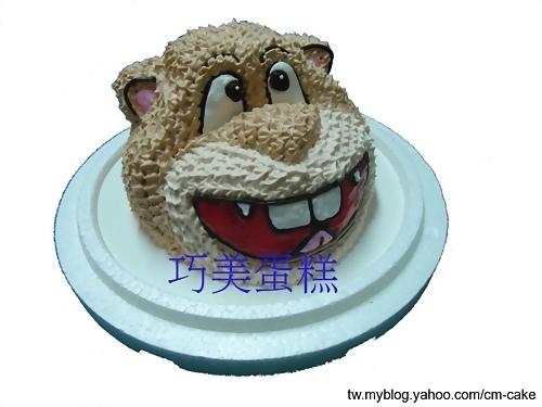 土撥鼠造型蛋糕