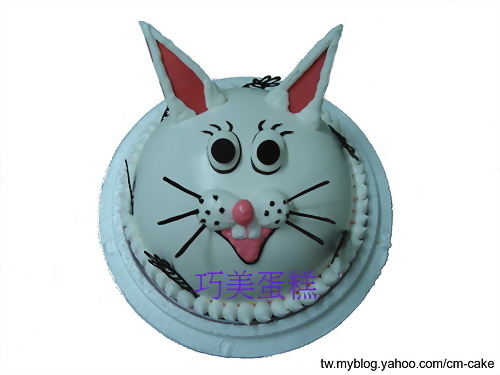 白兔造型蛋糕