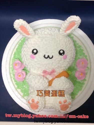 兔子拿蘿蔔立體造型蛋糕