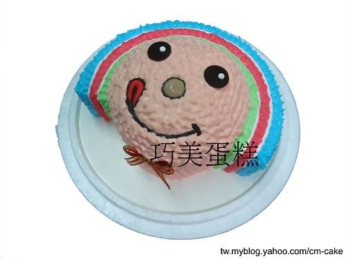 OPEN將立體(頭)造型蛋糕(藍、紅、綠)