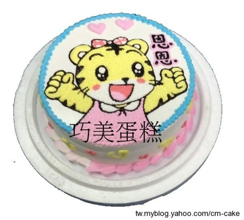小花平面造型蛋糕