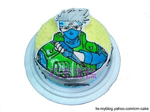 火影忍者卡卡西(2D)造型蛋糕