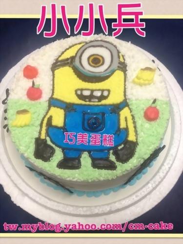 小小兵平面卡通造型蛋糕