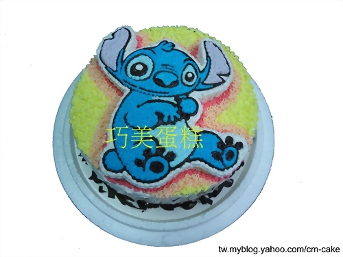 害羞的史迪奇2D造型蛋糕