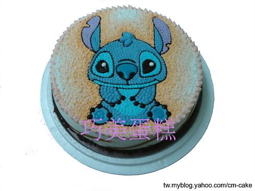 可爱版的史迪奇造型蛋糕