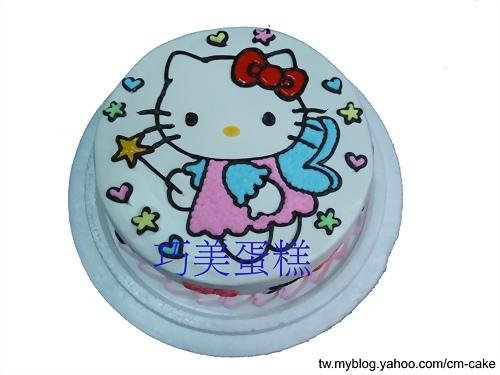 蝴蝶KITTY造型蛋糕
