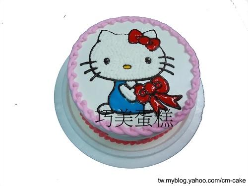 蝴蝶結KITTY造型蛋糕