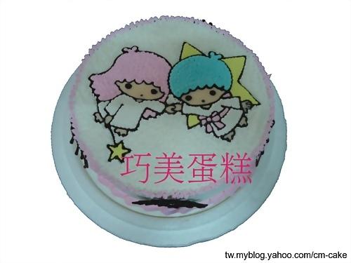 kikilala雙子星造型蛋糕