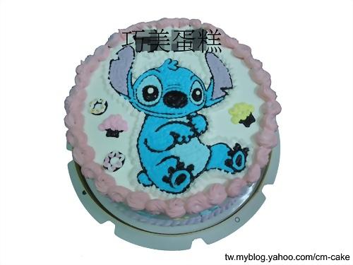 害羞的史迪奇造型蛋糕