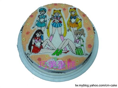 美少女戰士5人造型蛋糕