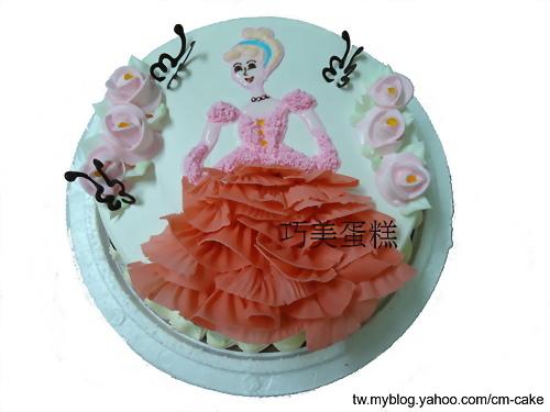 粉紅公主造型蛋糕
