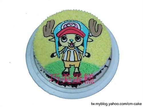 藍色帽子喬巴造型蛋糕