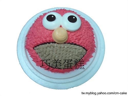 ELMO(頭)造型蛋糕