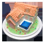 房屋建築創意蛋糕