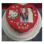 心型浪漫造型蛋糕