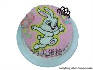 說讚的白兔造型蛋糕